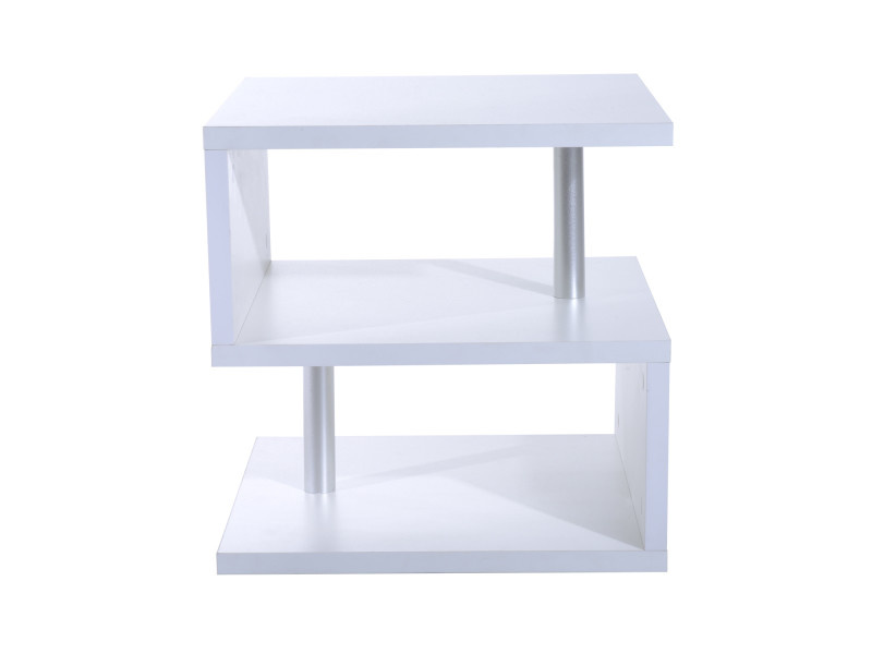 table basse contemporaine design g om trique en s 50l x 50l x 50h cm blanc vente de table. Black Bedroom Furniture Sets. Home Design Ideas