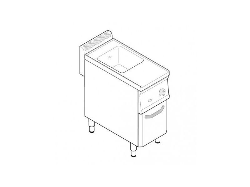 Cuiseur a pates professionnel électrique 1 cuve 2 gn 1/3 - tecnoinox - 700