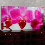 Tableau sur verre motif orchidée décoration à suspendre dec04021