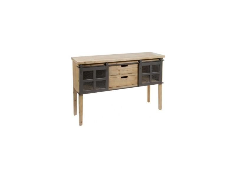 Console bois et métal industriel fabric