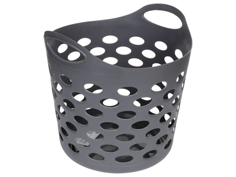 panier linge rond 28 l gris vente de panier. Black Bedroom Furniture Sets. Home Design Ideas