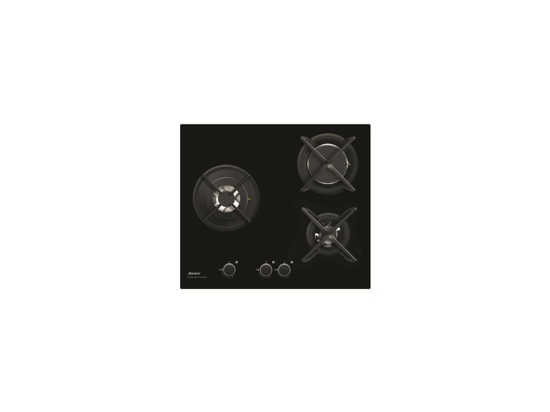Table verre gaz 60cm noir - spg4367b spg4367b