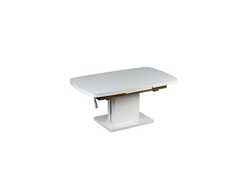 Table Basse Relevable Extensible 120 155 X 70cm En Verre Et