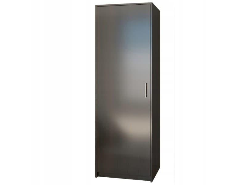 Essen - petite armoire contemporaine chambre/bureau/studio - 180x55x42 cm - penderie - meuble de rangement - wenge
