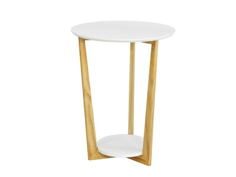 Table basse ronde guéridon table d\'appoint table café - 3 ...