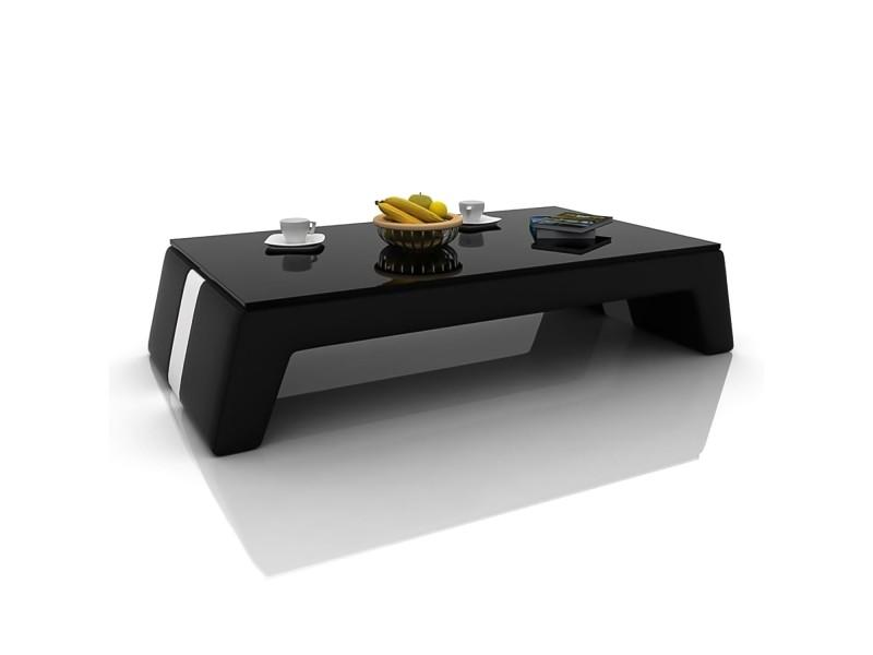 Thaly - table basse design noir et blanc
