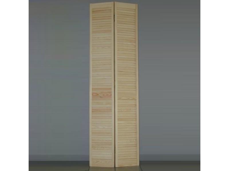 Porte De Placard Pliante Persiennée H205xl61cm Vente De