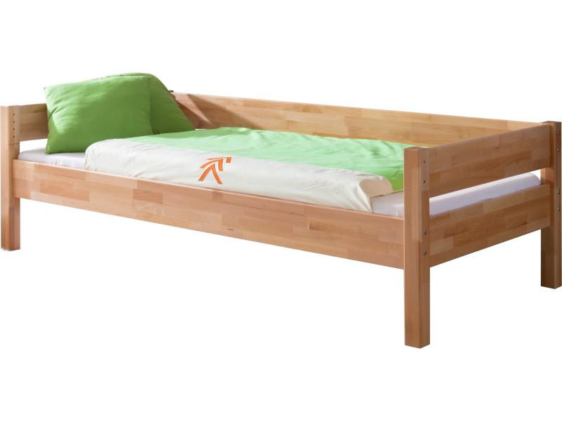 Lit-banquette avec sommier 90x200 cm en bois hêtre massif - Vente de ...