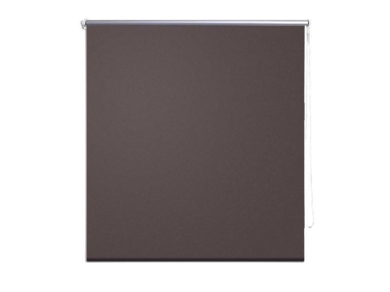 store enrouleur occultant marron 40 x 100 cm fen tre rideau pare vue volet roulant helloshop26. Black Bedroom Furniture Sets. Home Design Ideas
