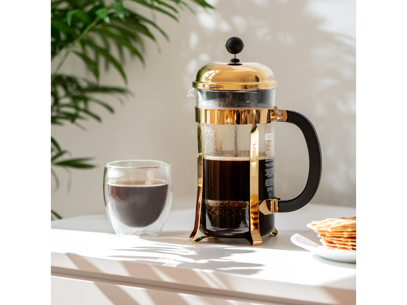 Bodum chambord® cafetière à piston, 8 tasses, 1.0 l, acier inox 1928-17