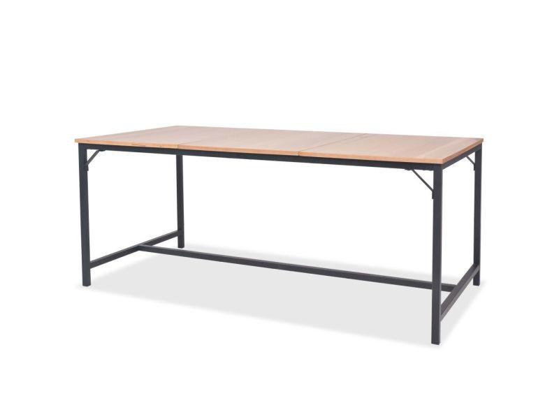 Superbe tables ligne kiev table de salle à manger bois de frêne 180 x 90 x 76 cm