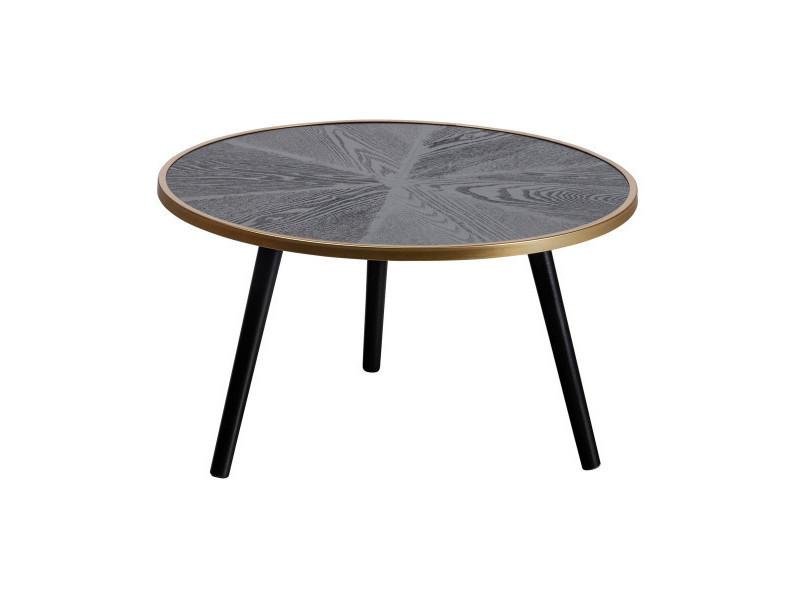 Bella - table basse ronde noire 377214-Z