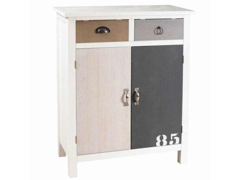 meuble 2 portes 2 tiroirs hugo style bord de mer. Black Bedroom Furniture Sets. Home Design Ideas