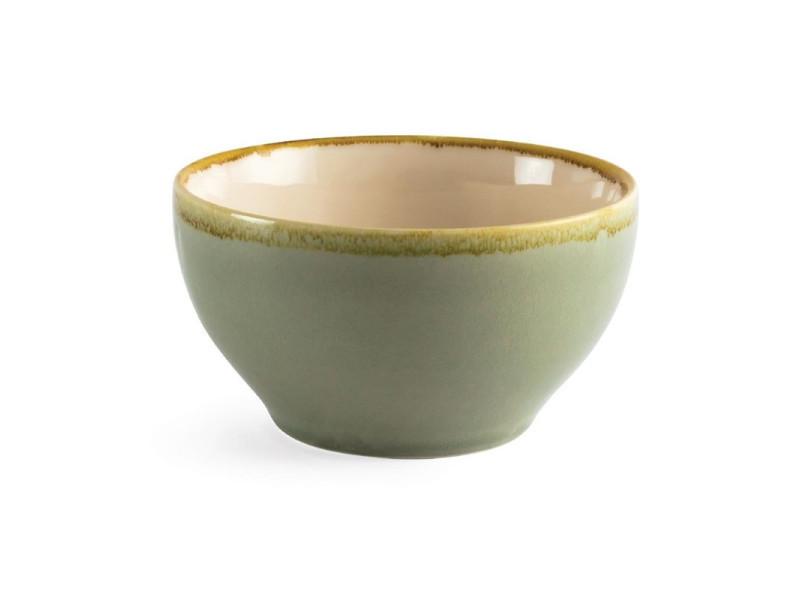 Bol rond couleur mousse kiln olympia 140mm - lot de 6 - 14 cm porcelaine 63,5 cl