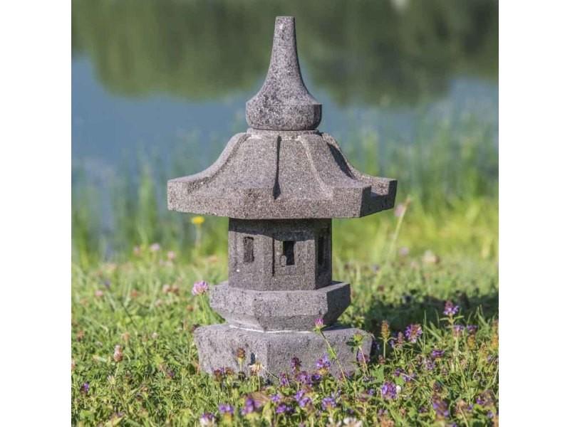 Lampe De Jardin Japonais En Pierre De Lave 50cm Lamp3 Vente De
