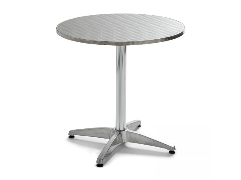 Table de jardin ronde en aluminium