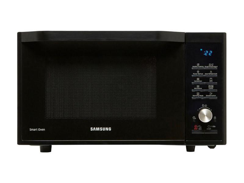 Samsung micro-ondes combiné 900w plateau rotatif 34,5cm ex.mc32j7035ak/ef