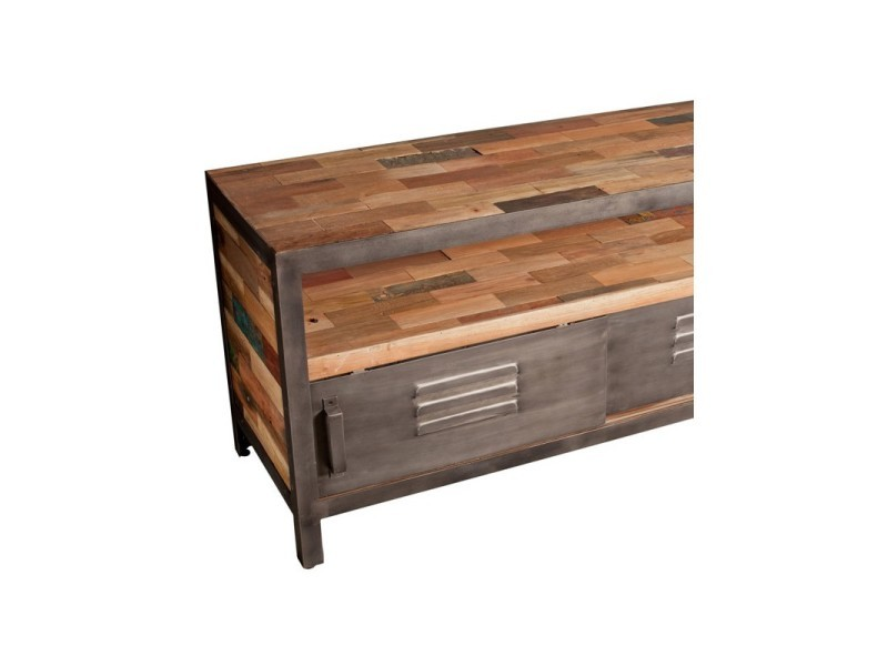 meuble tv 120 cm 2 portes coulissantes 1 niche fabrik l 120 x l 45 x h 60 neuf vente de. Black Bedroom Furniture Sets. Home Design Ideas