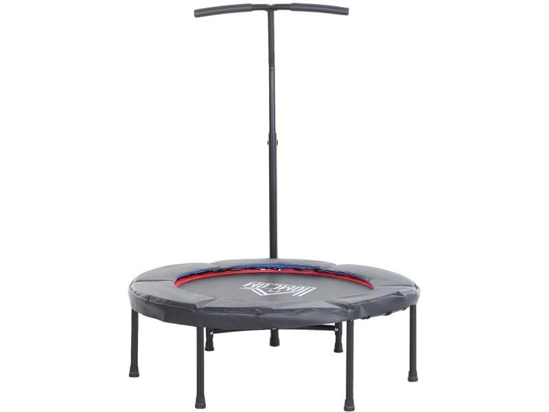 Trampoline de fitness / gymnastique haute performance ø 100 cm élastiques bungee + guidon hauteur réglable 92-108 cm noir