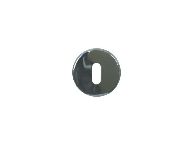 Rosaces rondes à clé - inox 304 brillant x2 IN121B