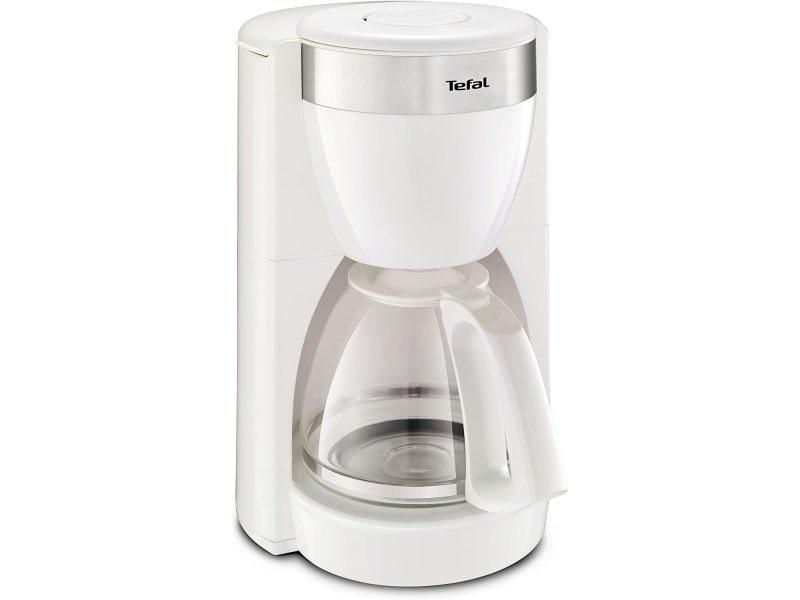 Cafetière électrique de 1,25l pour 15 tasses blanc