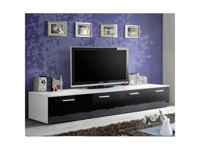 Paris Prix Meuble Tv Design Duo 200cm Noir Blanc