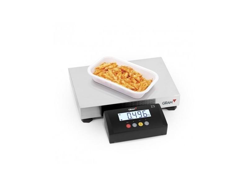 Balance électronique professionnel 150 kg z3t-f1-150 - gram - inox 150 kg
