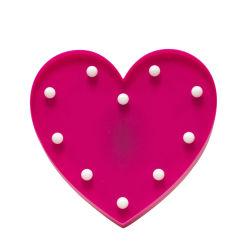 Déco lumineuse coeur rose
