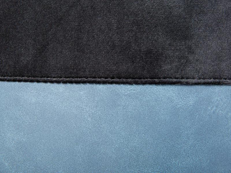 Pouf velours noir avec sangle en pu - dim : 38 x 32,5 x 43 cm -pegane- - Vente de Pouf o6lL0