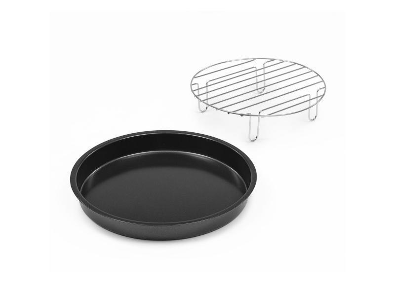 Klarstein aerovital cube chef plaque à pizza en acier inoxydable pour friteuse à air chaud OV12-AV Fry Set