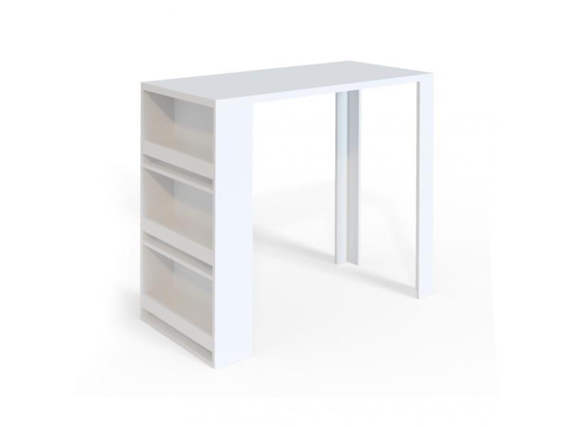 Table de bar blanc