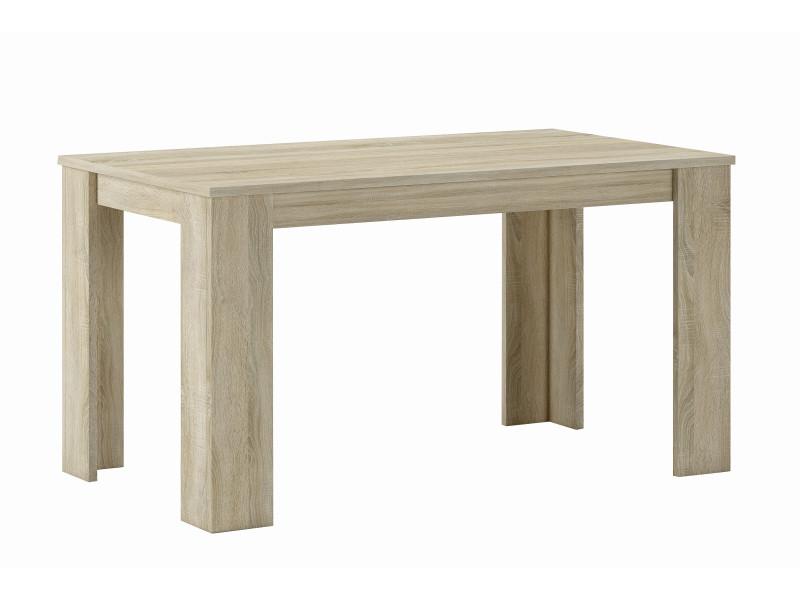 Table de salle à manger-séjour, chêne clair,80x138x75cm