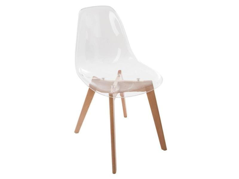 chaise scandinave transparente zepa vente de jja conforama - Chaise Scandinave Transparente