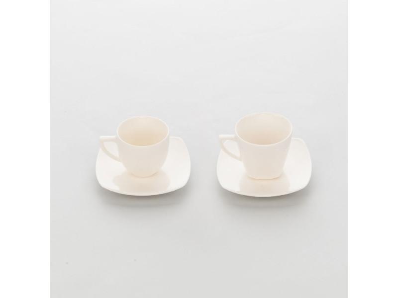 Tasse en porcelaine ecru et lisse liguria 230 ml - lot de 6 - stalgast - 8 cm porcelaine 23 cl
