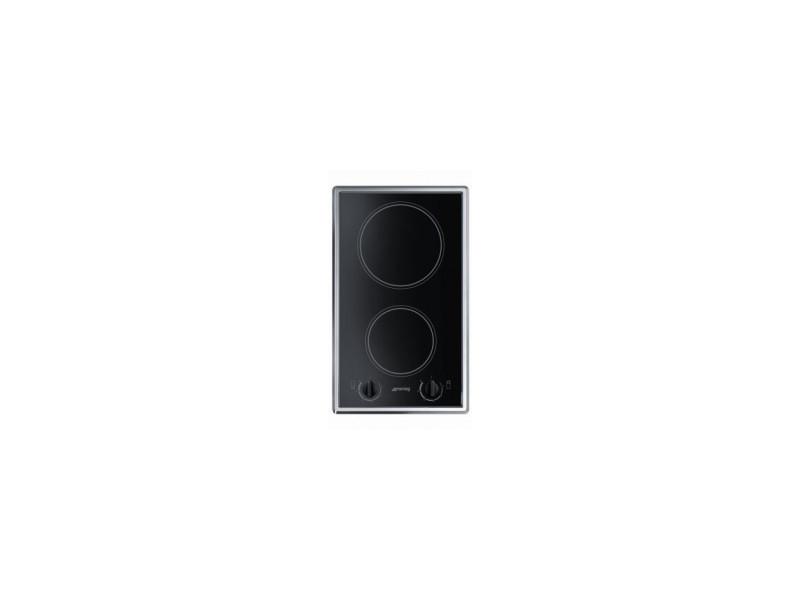 Smeg s232cx plaque - plaques (intégré, electrique, céramique, noir, rotatif, acier inoxydable)