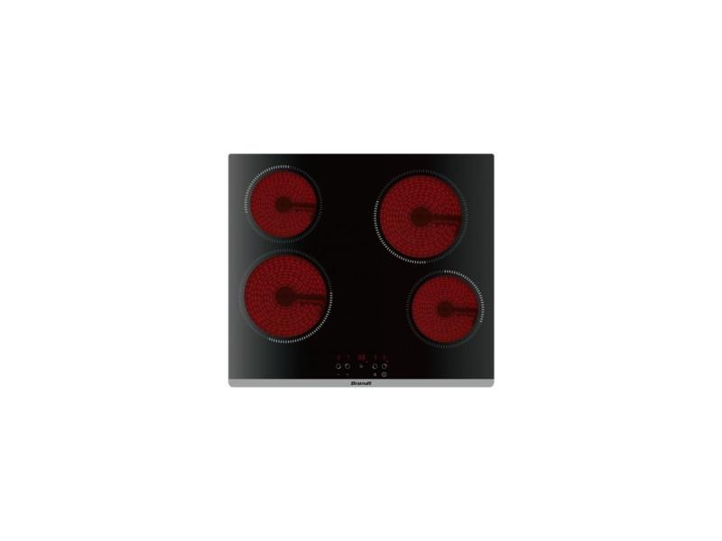 Table de cuisson vitrocéramique 60cm 4 feux 6000w noir - bpv6420b bpv6420b