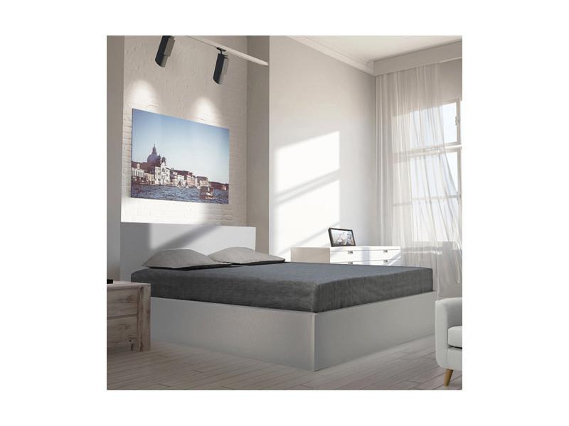 lit coffre madrid 140x190 1 sommier gris vente de lit adulte conforama. Black Bedroom Furniture Sets. Home Design Ideas