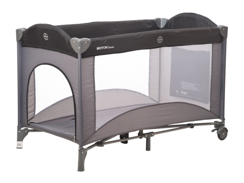 lit pliant baby fox siesta steel grey vente de baby fox. Black Bedroom Furniture Sets. Home Design Ideas