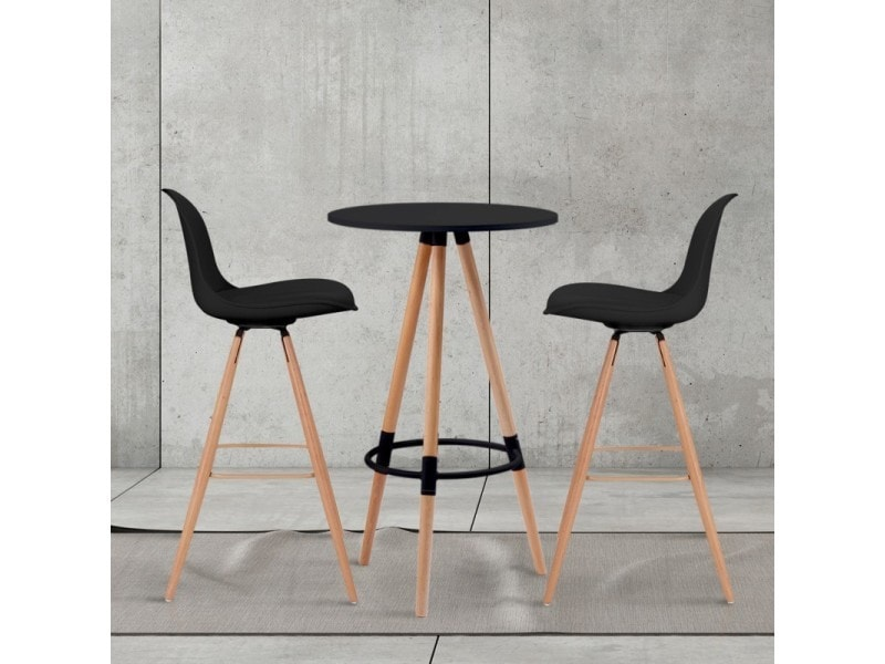 Table De Bar Ronde Scandinave Sara Noire Vente De Id Market
