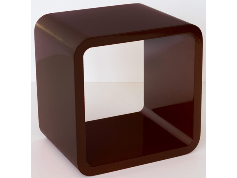 Étagère cube murale brun foncé -pegane-