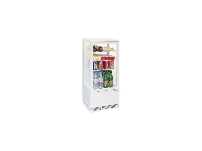 Mini Frigo Vitrine Réfrigérée à Poser 78 Litres Blanche
