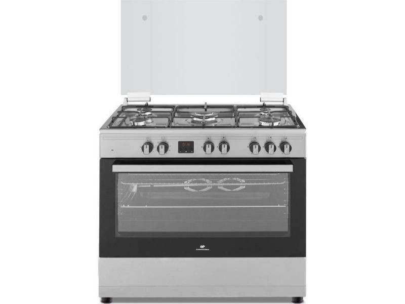 Continental edison cuisiniere piano four multifonctions catalyse 100l affichage digital l90 xh 85 cm inox CECP9060IXD