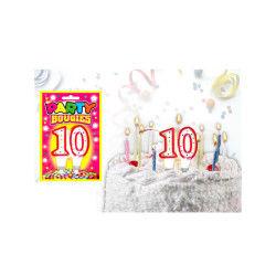 Bougies chiffres anniversaire - bougies chiffres anniversaire 10 - bougies chiffres anniversaire 10