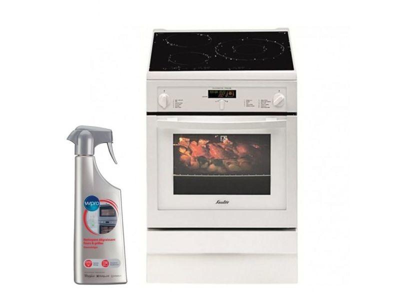 097606e0bd0e8 Sauter cuisiniere induction blanc 4 plaques 60x60cm four pyrolyse 53l  multifonction