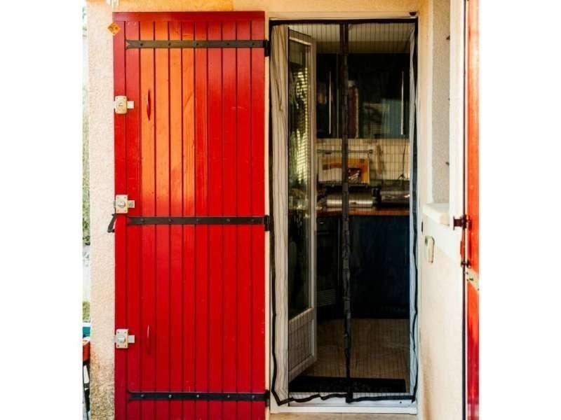 3a3aed3fb5f96 Moustiquaire rideau de porte aimantée noire 100 x 215 cm - Vente de ...