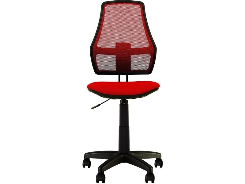 Fauteuil chaise de bureau pour enfant fox. dossier en maille. tissu