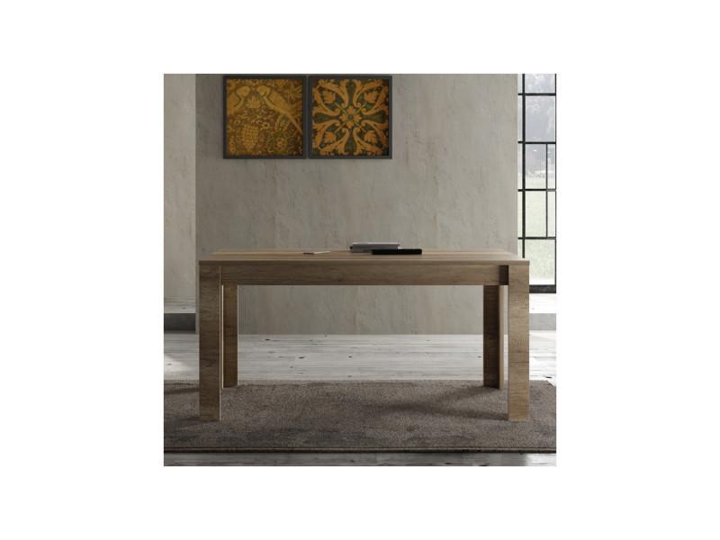 Table de repas 160 cm chêne moyen - verone - l 160 x l 90 x h 79 - neuf