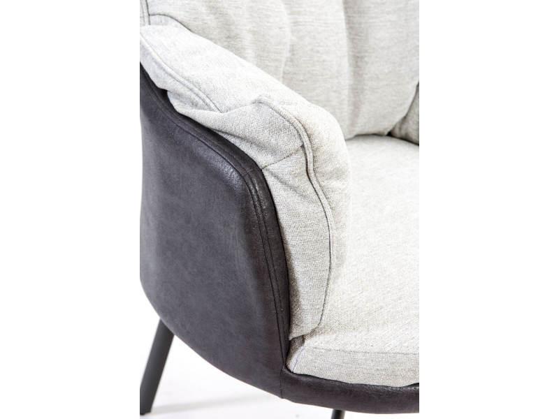 Bobochic fauteuil miki gris clair / gris foncé