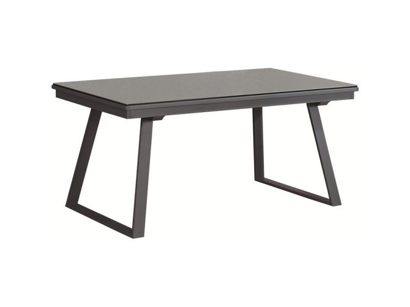 Table de repas extensible 160/276 cm en céramique gris - renzo