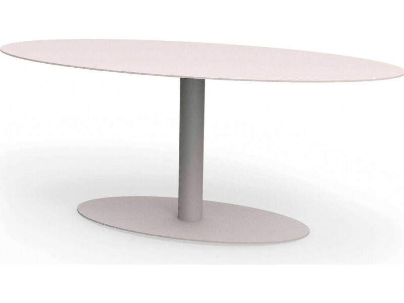 Table basse ovale metropolitain rouge coquelicot TaA_MET_ova_h45_Coq